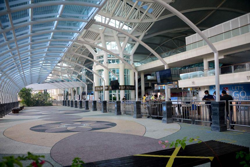 The international arrivals terminal at Ngurah Rai airport in Bali on Oct 14, 2021.