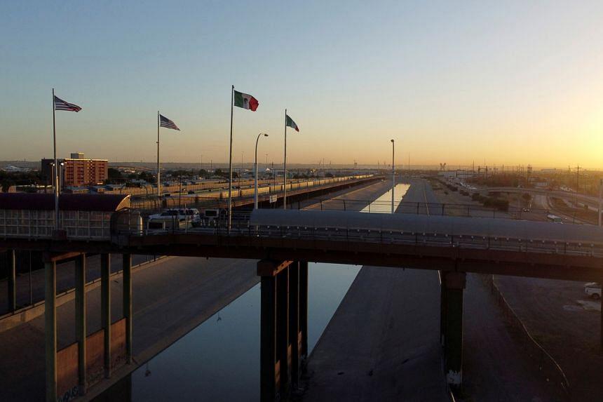 A border bridge in Ciudad Juarez, Mexico, south of El Paso in the US state of Texas.