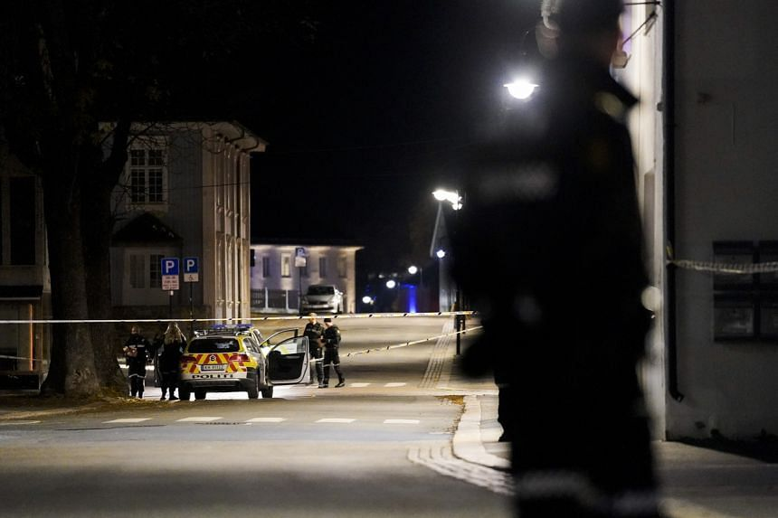 The attack started shortly before 6.30pm and was described as covering a large part of Kongsberg.