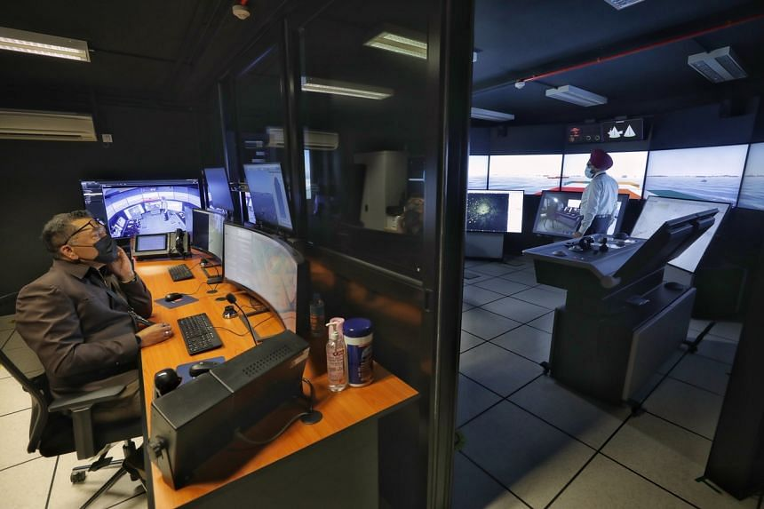 The simulator has a full mission ship bridge and a traffic service system that replicate real-life conditions.