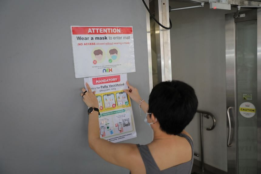 Unvaccinated people will be barred from entering malls and large standalone stores from Oct 20 under the new vaccination-differentiated rules.