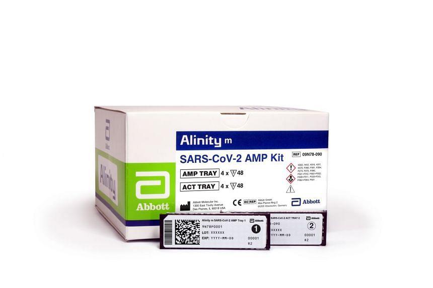 The Alinity m SARS-CoV-2 AMP test kit from Abbott Molecular Inc.