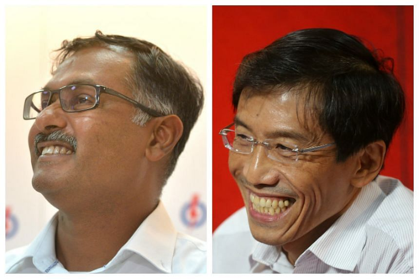 People's Action Party's (PAP) Murali Pillai (left) and Singapore Democratic Party's (SDP) Chee Soon Juan.