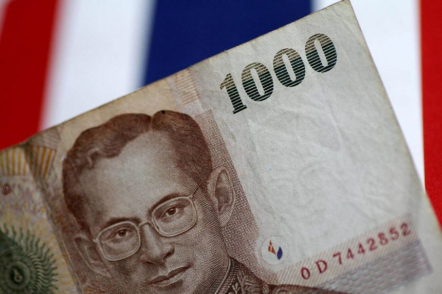 A Thailand Baht note is seen in this illustration photo.