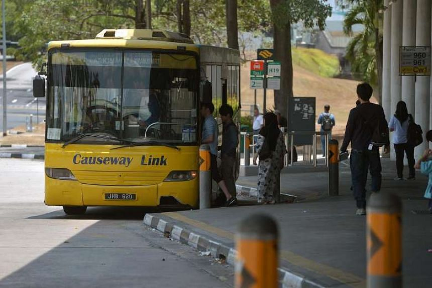 Travellers entering Johor by bus are required to go through thermal screening for the Zika virus.