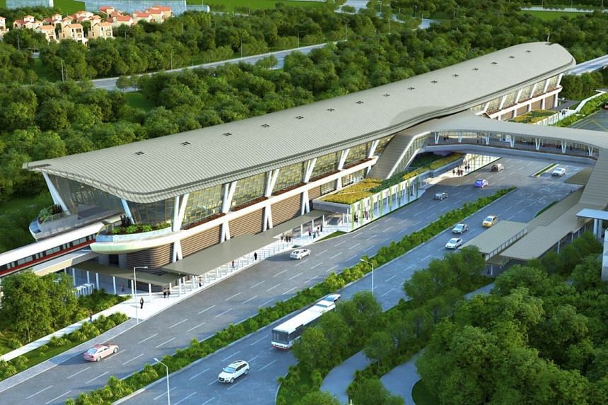 An artist's impression of the new Canberra MRT station on the North-South Line.