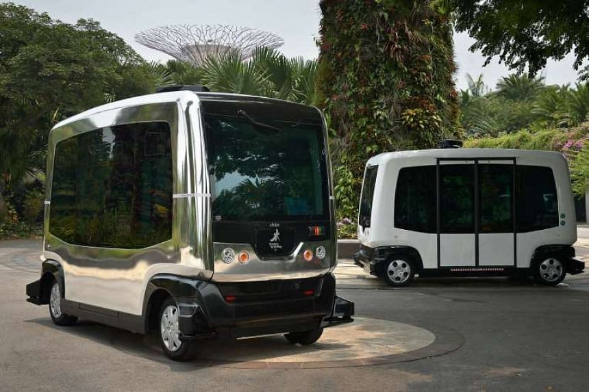 Auto Riders will take visitors around the grounds of Gardens by the Bay from as early as December. They can each carry 10 people and are wheelchair accessible.