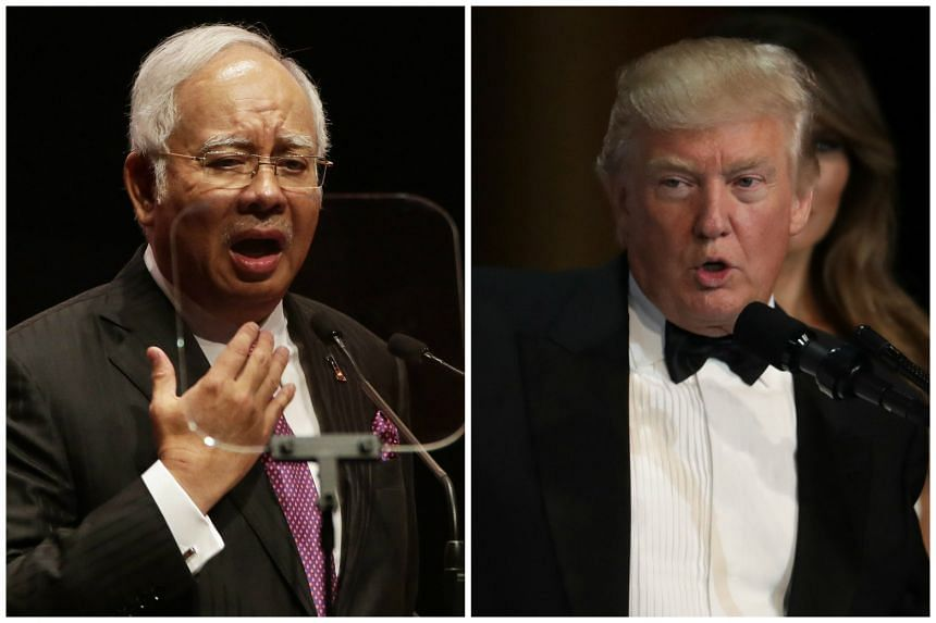 Malaysian Prime Minister Najib Razak said he looks forward to working with US President Donald Trump and also noted that the relationship between the US and Malaysia has grown in recent years.