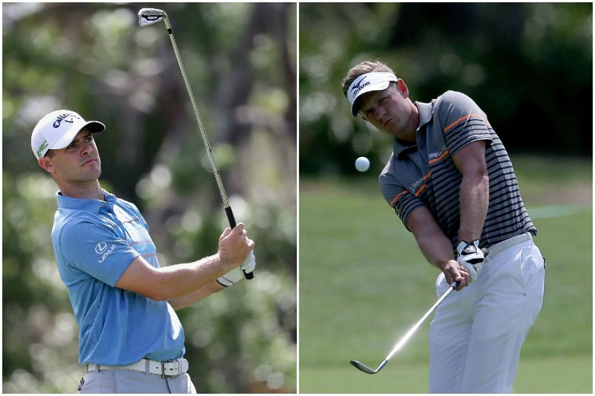 Rookie Wesley Bryan (left) edged out former world No. 1 Luke Donald by one stroke at the Heritage.