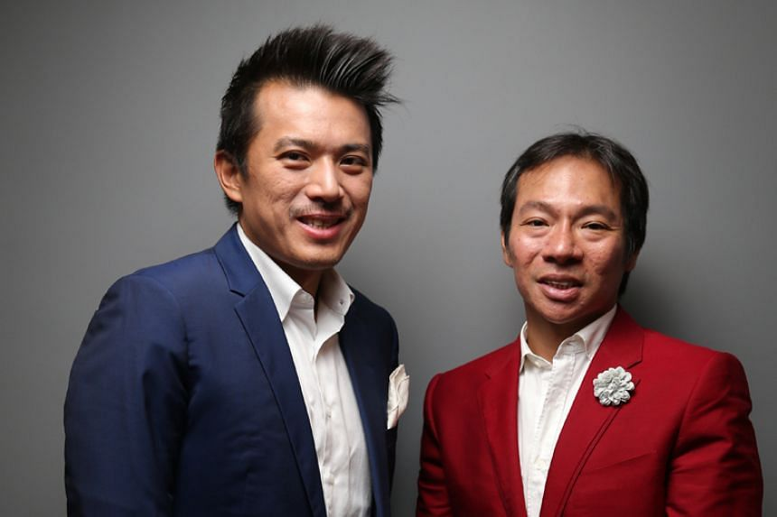 Cousins Nelson (left) and Terence Loh grabbed headlines last month by announcing a takeover bid for Newcastle United.