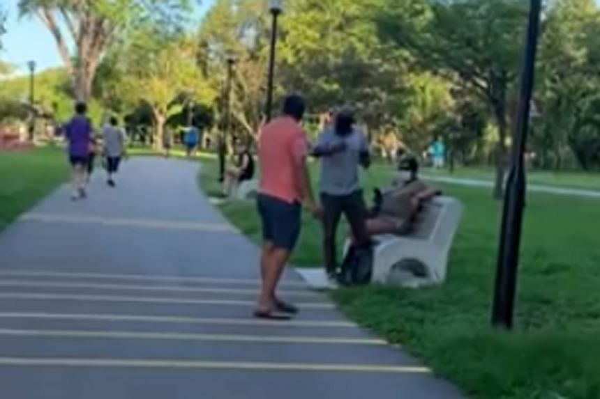 The man allegedly uttered offensive remarks towards an Indian family at Pasir Ris Beach Park on May 2, 2021.