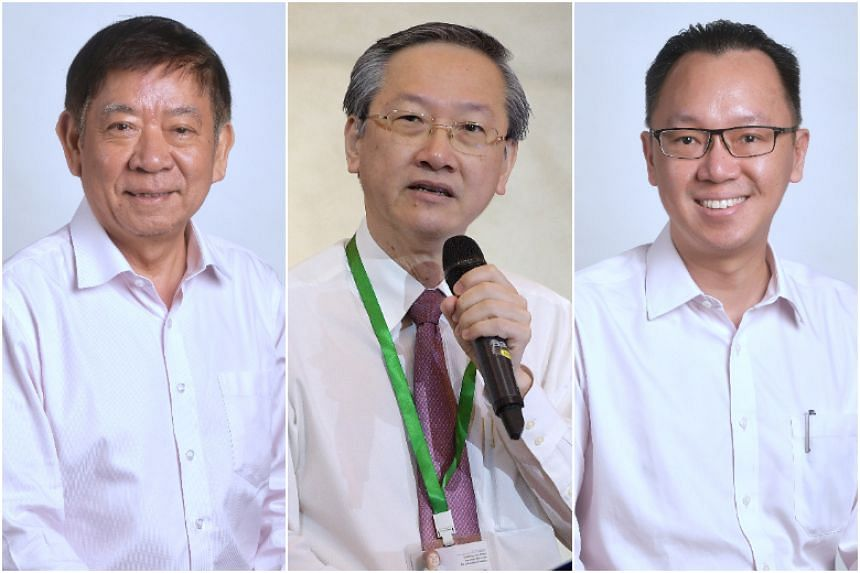 (From left) Political office-holders Khaw Boon Wan, Sam Tan and Tan Wu Meng will retire in this round of Cabinet changes.