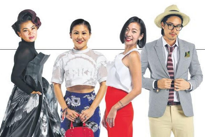 (From left) Housewife Susanna Kang, entrepreneur Charlotte Chen, marketing director Charmaine Seah-Ong and real estate agent Darius Chia.