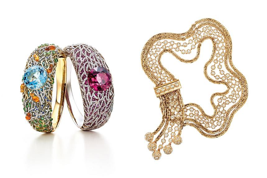 Tiffany & Co design director Francesca Amfitheatrof's favourite pieces are two bracelets (left) from the Blue Book collection and a necklace (below left) from the Masterpieces collection.