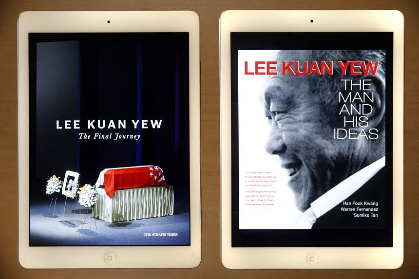 Lee Kuan Yew: The Man And His Ideas and Lee Kuan Yew: The Final Journey were the two most popular e-books offered in The Straits Times' Star E-Books app.