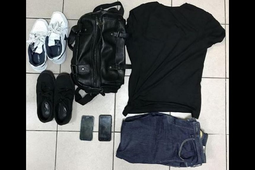 Police seized clothes and two mobile phones from the two men aged 26 and 32.