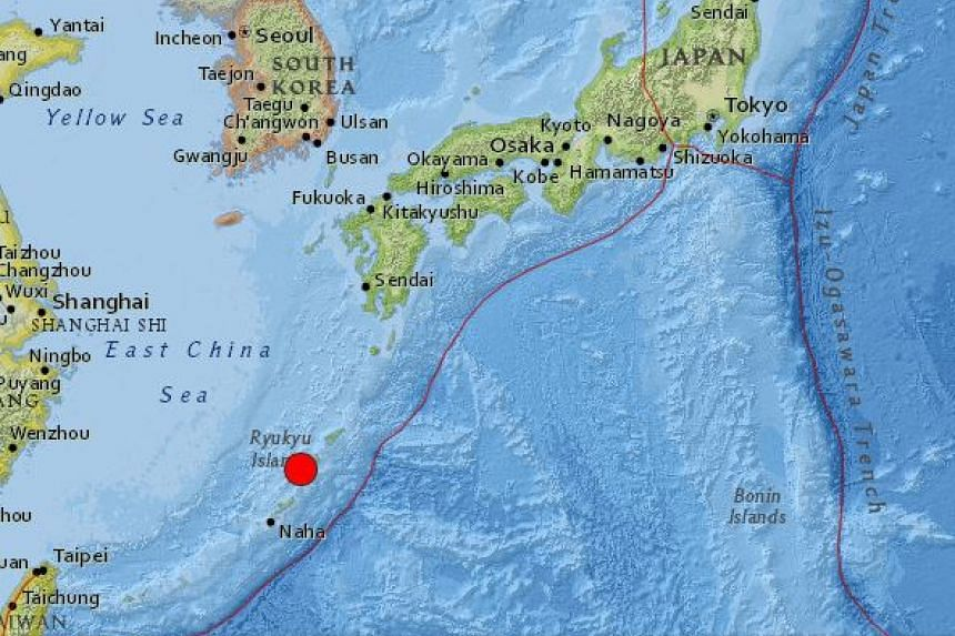 Japan's southern Okinawa island and a chain of neighbouring islands were shaken on Monday (Sept 26) by an earthquake with a preliminary magnitude of 5.7.