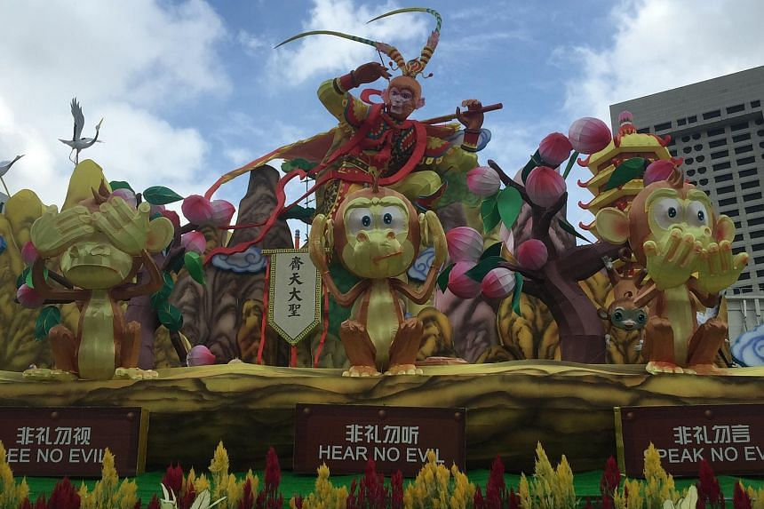 A float of the Monkey King at the River Hongbao 2016.