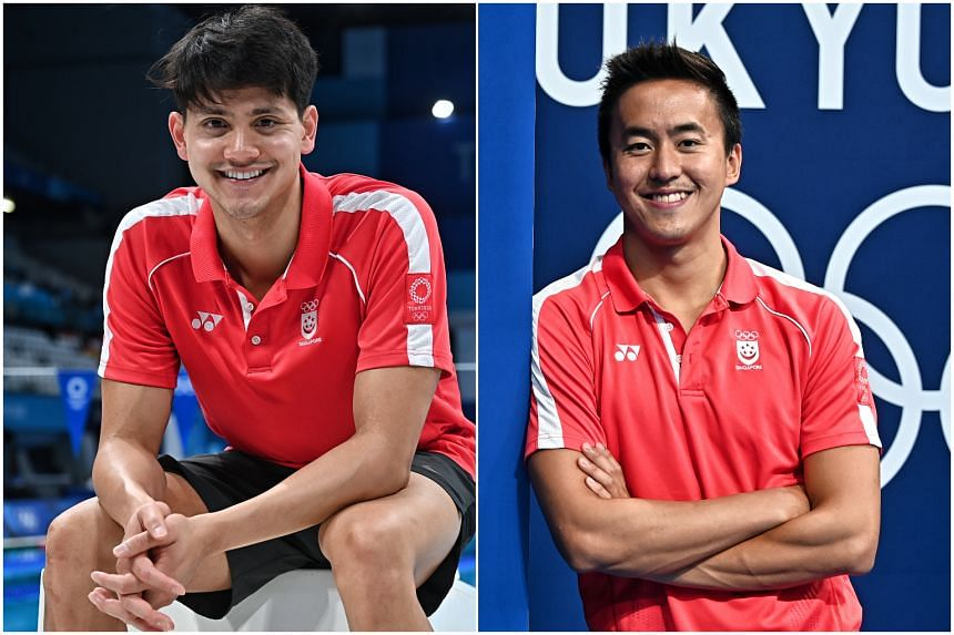 The enlistment process for Joseph Schooling (left) and Quah Zheng Wen re-commenced from Aug 31, when their deferments ended.