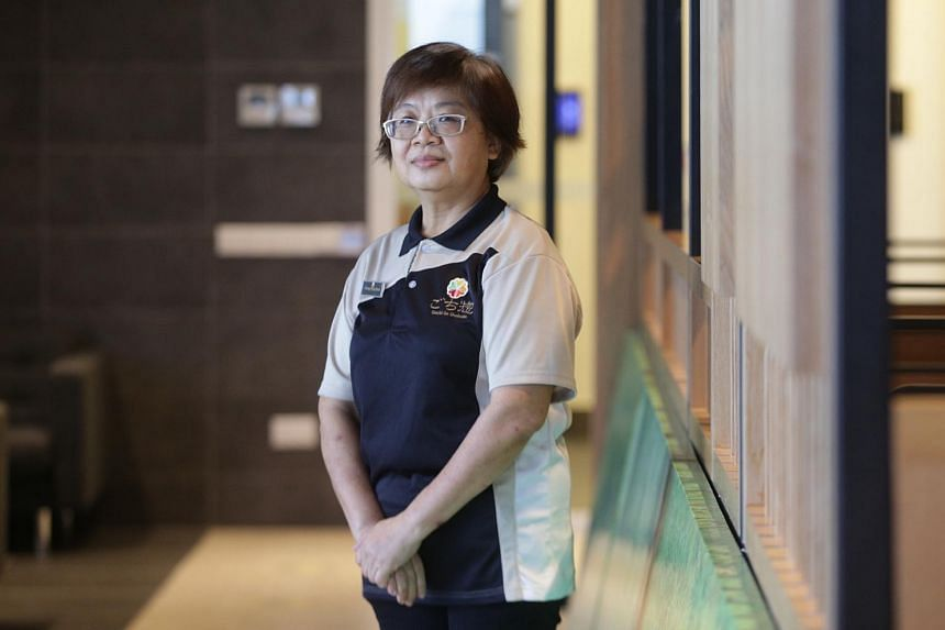 Madam Chong Nyok Mooi, 56, a service crew at Gochi-So Shukodo.