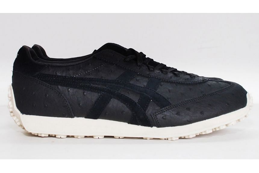 Black leather sneaker, $189, Onitsuka, from Leftfoot.