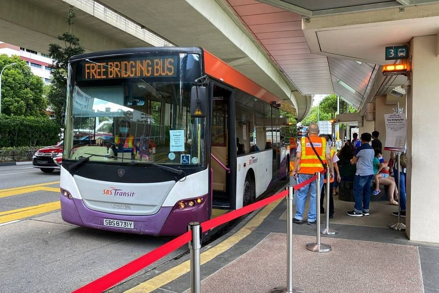 Bridging buses and free bus rides at designated bus stops have ceased.