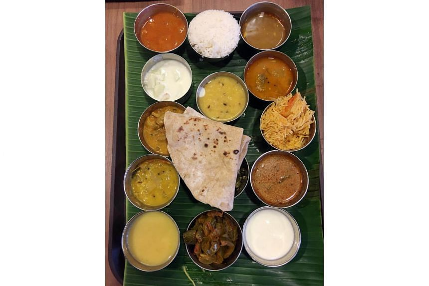The VIP Thali set (Indian vegetarian meal) from Madras New Woodlands Restaurant in Upper Dickson Road.