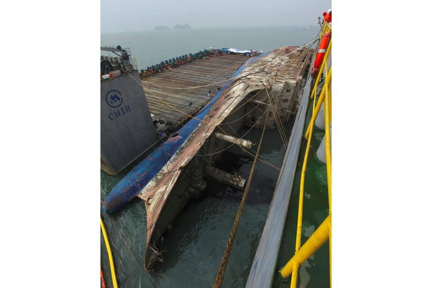 South Korea's sunken Sewol ferry was sailed away from its watery grave on March 24, beginning its final journey nearly three years after it went down with the loss of more than 300 lives.