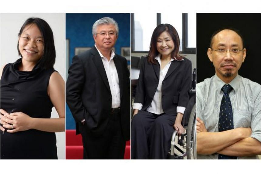 (From left) Ms Kuik Shiao-Yin, Mr Thomas Chua, Ms Chia Yong Yong, and Mr Randolph Tan complete the list of nine Nominated MPs.