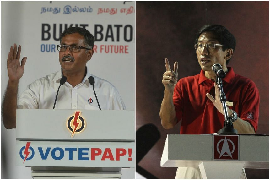 PAP candidate Murali Pillai and Dr Chee Soon Juan of the SDP both appealed to voters to consider the brand of politics they were choosing, and the character of each candidate.