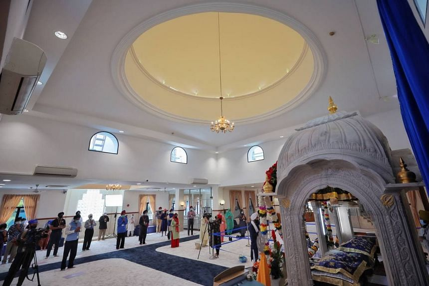 The temple now has a bigger main prayer hall.