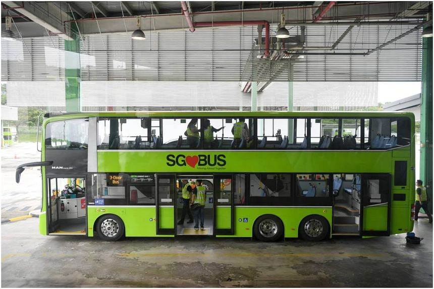 A total of 100 of these buses will begin plying Singapore's roads, some as early as the end of this month.