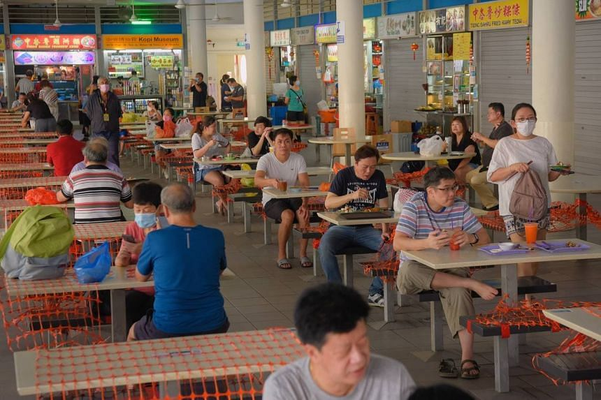 The morning crowd at Tiong Bahru Market on Oct 13, 2021.