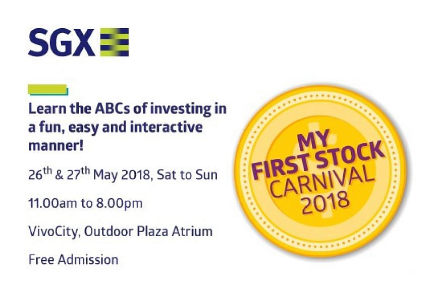Not sure how to get started on investing? Get tips and advice from experts at the My First Stock Carnival to help you on your journey. PHOTO: SGX
