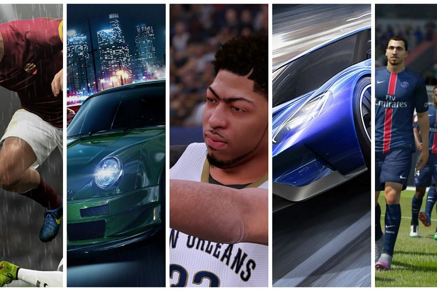 ST Digital Awards: Nominees for best sports or racing game.