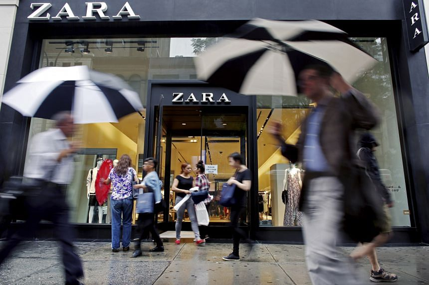 With their ability to constantly deliver new styles to stores, fast-fashion labels such as Zara (above) have overtaken iconic US brands such as Gap.