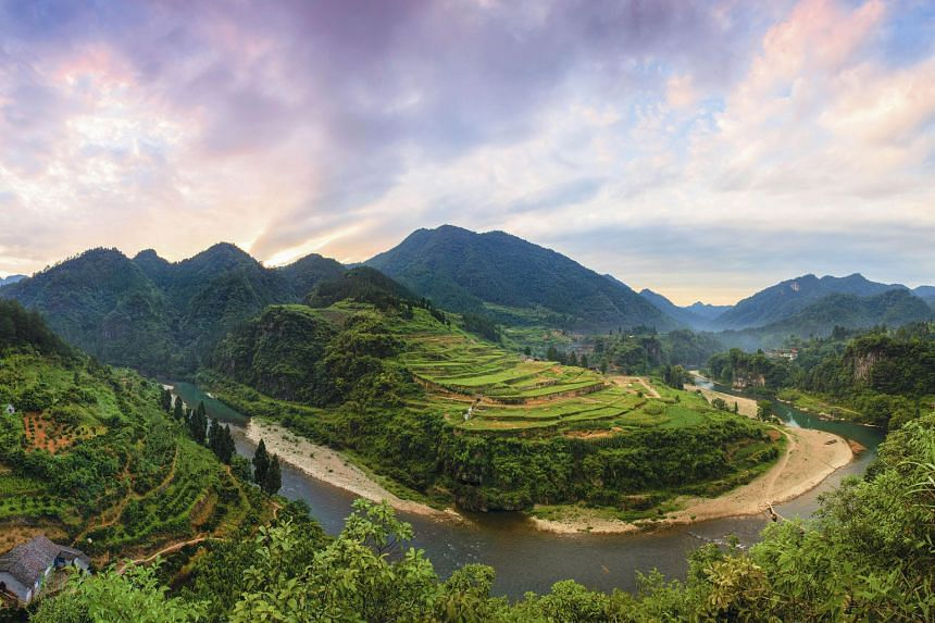 Laosicheng and the Lingxi River in central China's Hunan province. Laosicheng is one of three tusi sites newly inscribed on the Unesco World Heritage List.
