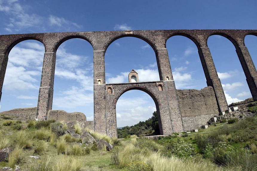 The aqueduct spans 45km and was designed by a Franciscan friar in the 16th century.