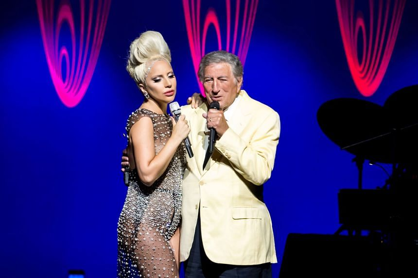 Lady Gaga and Tony Bennett (both left) delivered 30 songs during their 100-minute show.