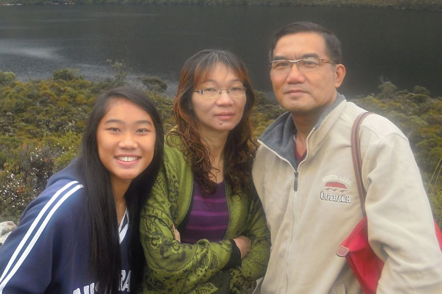 Mr Lau Kim Lon with his wife, Ms Lim Siew Teng, and younger daughter Hui Ping. He began writing to the Forum Page over 10 years ago, and writes mostly about transport and safety issues.