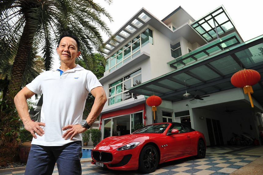 Growing up, Mr Patrick Lim never invited anyone to his home, an attap house in Siglap surrounded by bungalows and semi-detached houses. After starting his business in 1996, he bought a semi-detached house, whose garden boasts a bridge, a water wall a