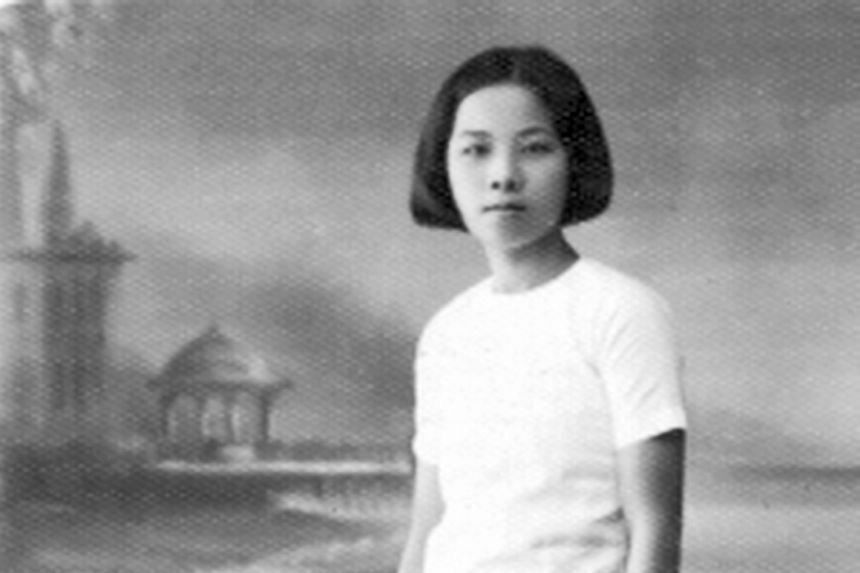 The writer's mother (above) ran away from home to give herself a chance to further her education. She told her parents that she believed women could be independent if they had the right knowledge and skills.