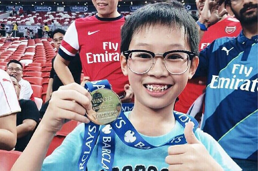 Ryan Koh is one lucky boy, going home with a winners' medal on Saturday.