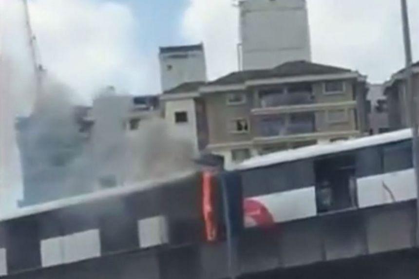 The fire caused a massive jam along the Federal Highway as curious motorists stopped or drove by slowly to look.