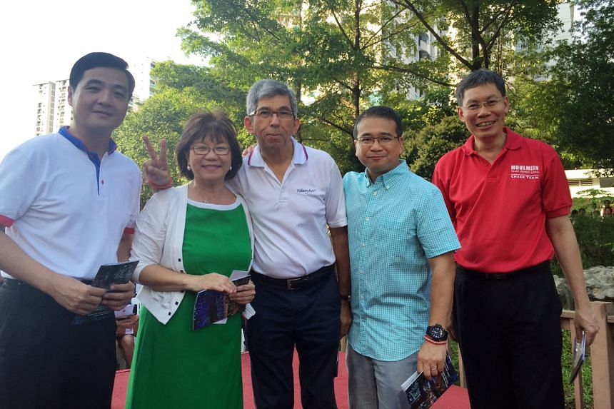 (From left) Senior Minister of State in the Prime Minister's Office Heng Chee How, Central Singapore District Mayor Denise Phua, Communications and Information Minister Yaacob Ibrahim, Moulmein-Kallang GRC MP Edwin Tong and Minister for Transport Lui