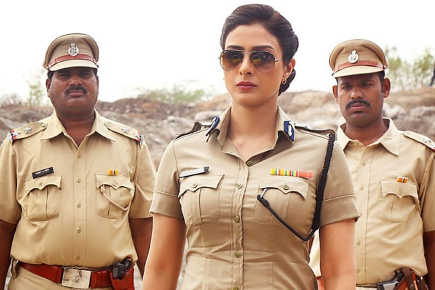Actress Tabu plays a tough top cop looking for answers to what happened to her missing son.