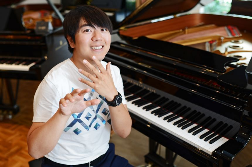 Chinese pianist Lang Lang cut short a holiday to prepare for the concerto he will be playing here.