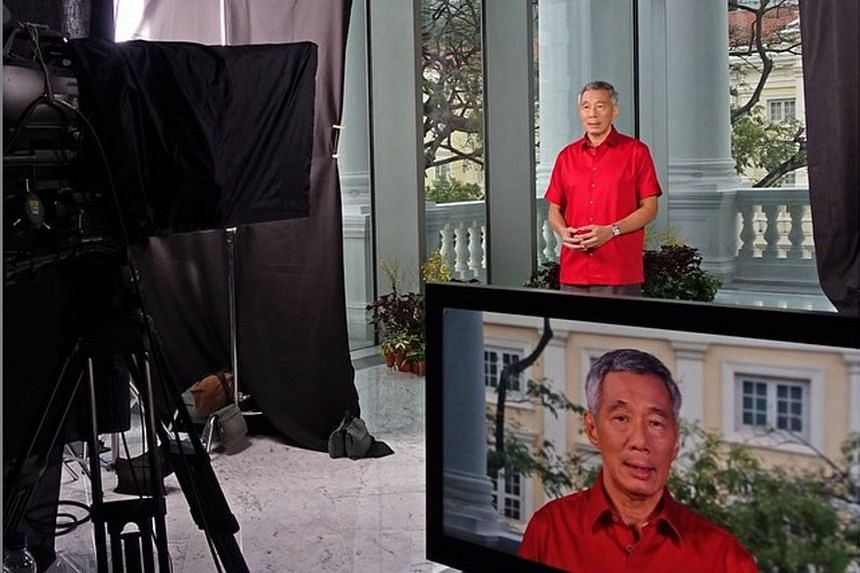 A photo posted on PM Lee's Instagram account showing him at the recording of the National Day Message at the Victoria Theatre and Concert Hall. He said he chose the venue as the buildings were the site of significant events in the nation's history.