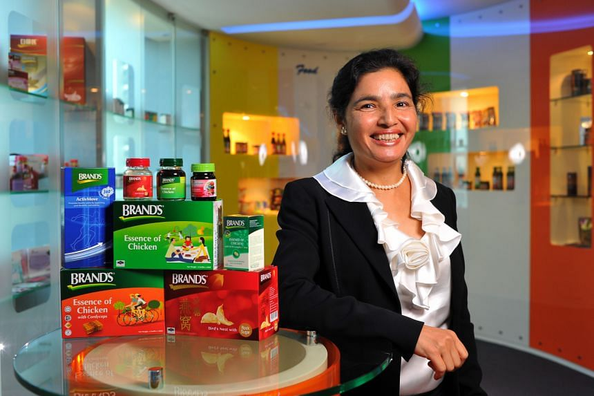 Cerebos thinks it is about time to send the chicken essence back to conquer the markets where it has its roots, says Ms Neerja Sewak (left). Britain, and Japan, home of Cerebos' parent Suntory Group, are potential markets.