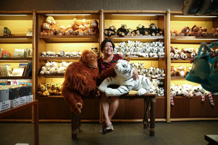 Madam Susie Ng at the gift shop, where she started her career with the zoo. Her duties then included stamping admission tickets. She is now an assistant human resource manager at WRS. Bumper-to-bumper traffic along Mandai Lake Road on July 1, 1973, t